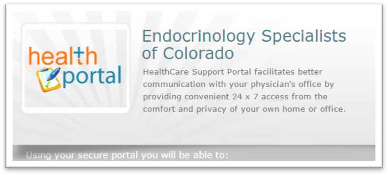 Patient Portal Guide | Endocrinology Specialists of Colorado
